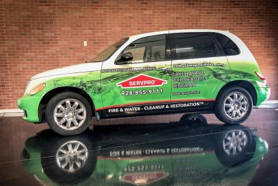 Servpro Car Wrap, IMPACT Wraps in Lake Havasu City