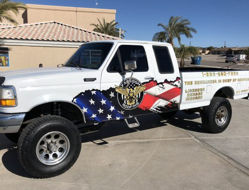 Freedom Roofing Truck Wrap