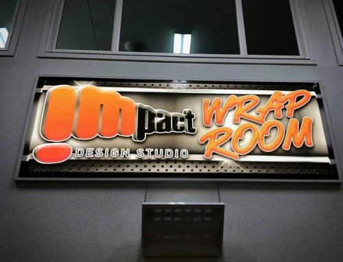 Impact Wrap Shop Interior Backlit Sign