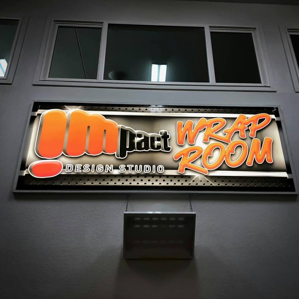 Impact Wrap Shop Interior Backlit Sign - Impact Design Studio