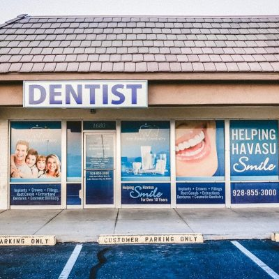 lake havasu dentist window perf signage