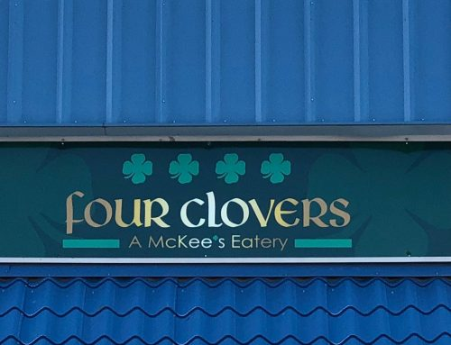 Four Clovers Restaurant Sign