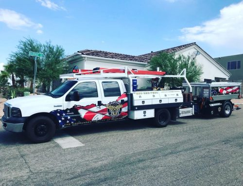 Freedom Roofing Utility Truck Wrap